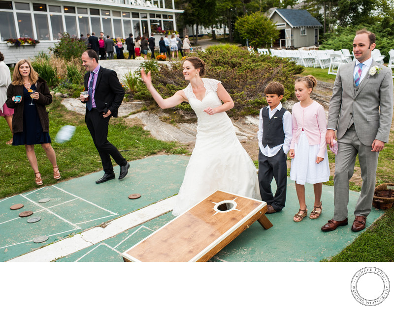 Wedding Photos at Linekin Bay Resort in Maine