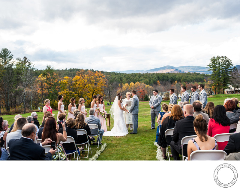 Outdoor Wedding  Bethel Inn