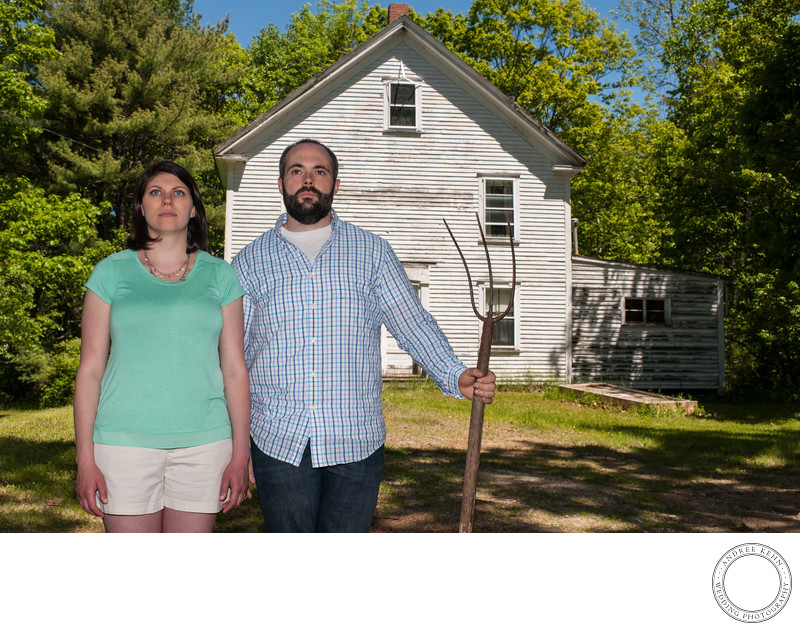 American Gothic Engagement session