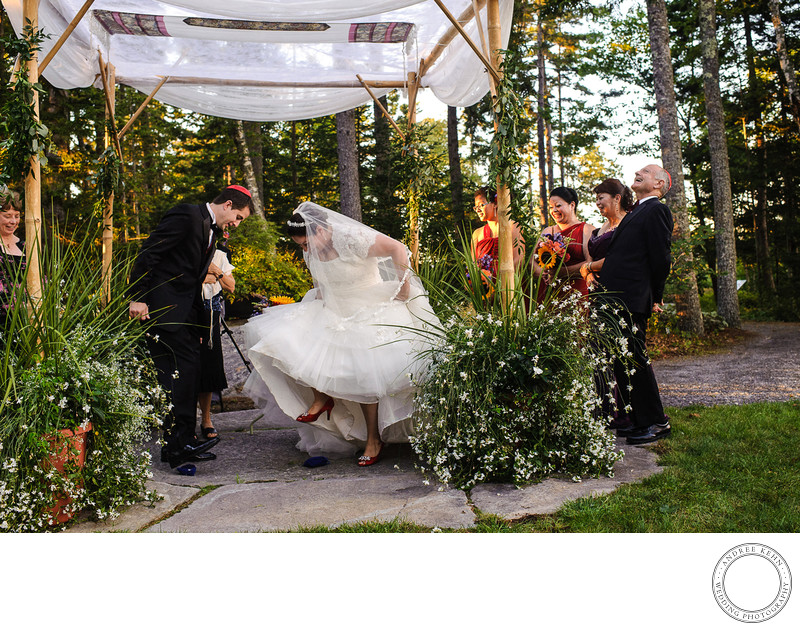 Jewish Wedding Photographer- Boothbay harbor Maine