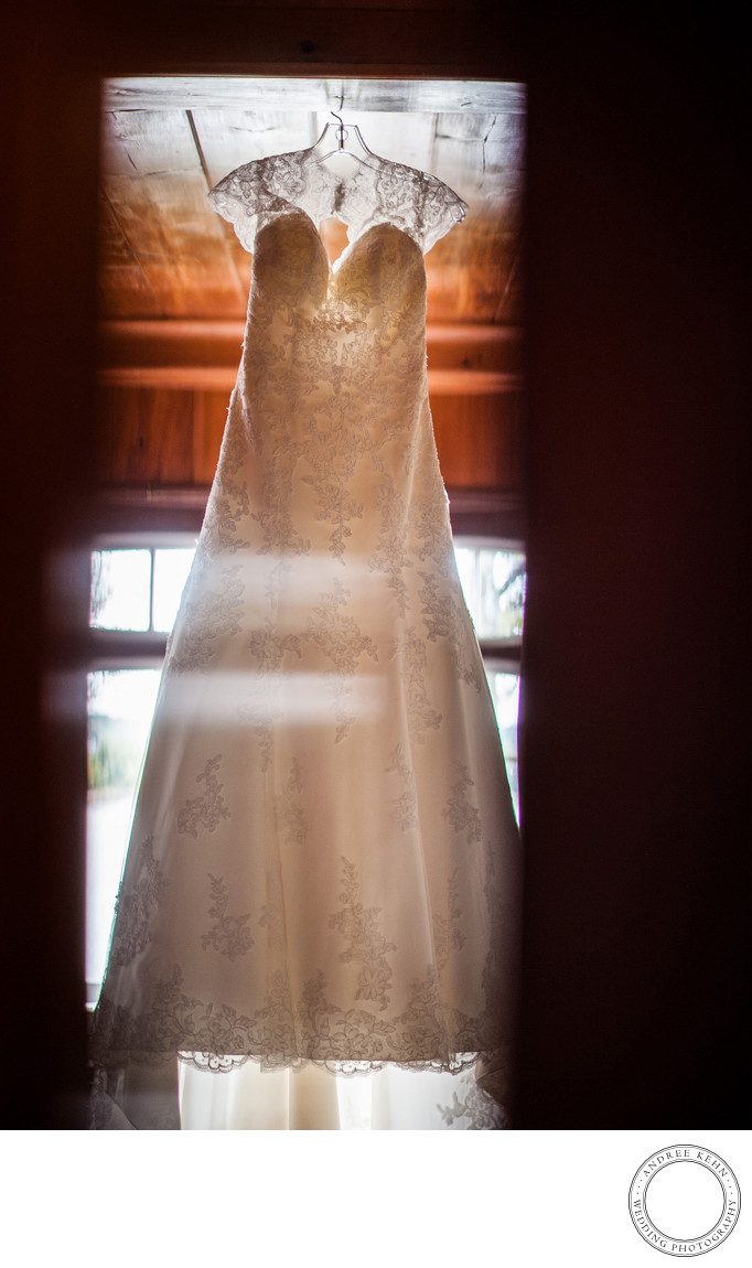 Wedding Dress at Linekin Bay Resort