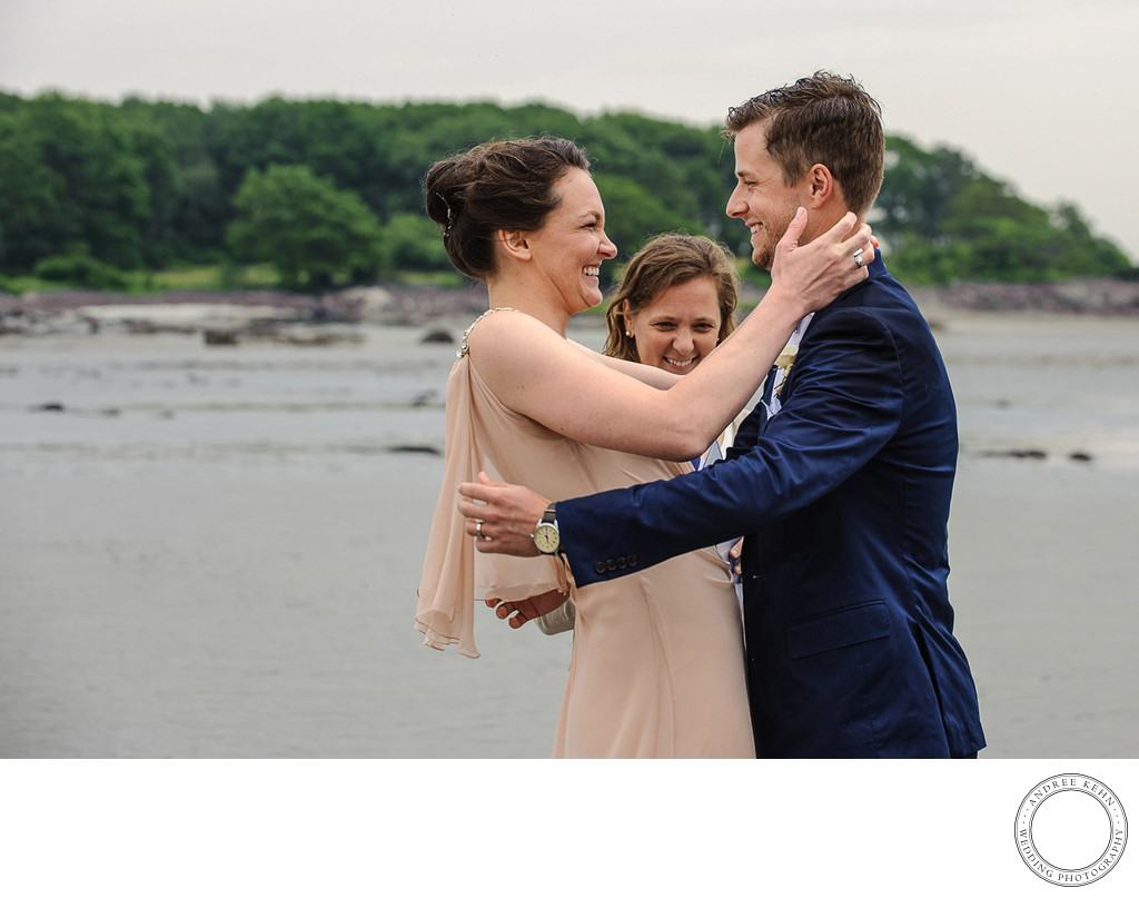 Maine beach wedding