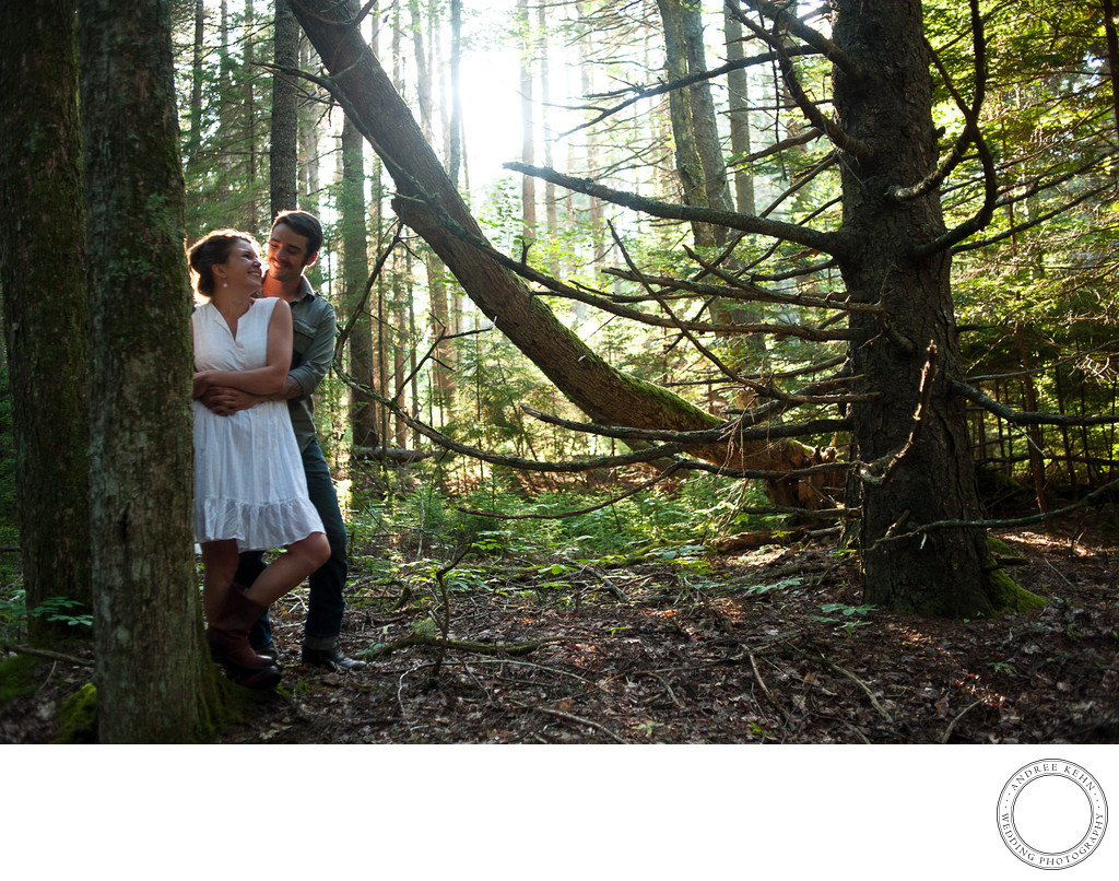 Great light in an engagement session