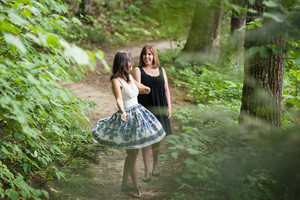 Lesbians in the woods