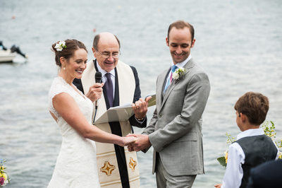 Outdoor Wedding at Linekin Bay Resort