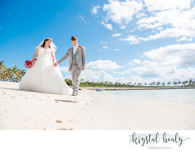 Wedding Ceremony on Disney private island, Castaway Cay