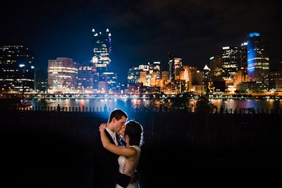 Downtown Pittsburgh PA Wedding Night