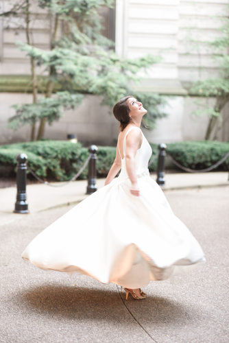 Bride at the Carnegie Museum of Art for her wedding