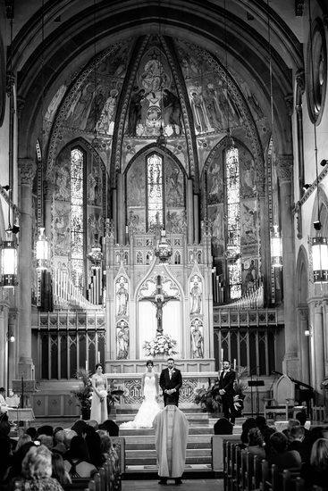 Wedding Ceremony at St. Bernard Church