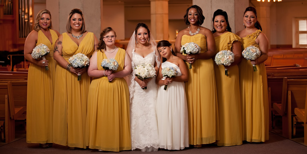 Bridal Party at St Rita Catholic Church
