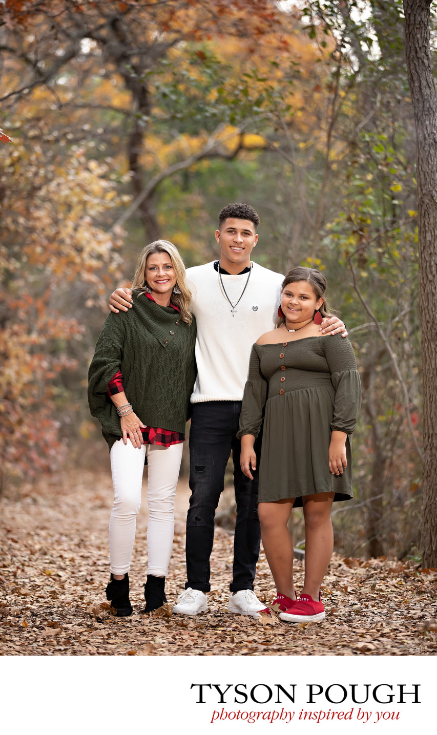 Family Holiday Portraits in the Park