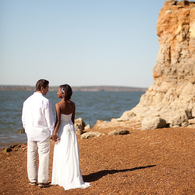 Grapevine Lake Bride and Groom