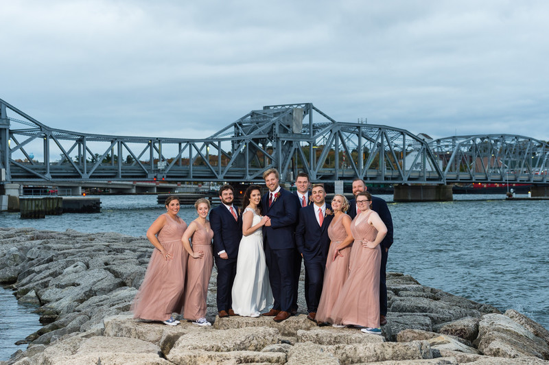 Sturgeon Bay Bridge Bridal Party - Milwaukee Wedding Photographer - Joel Nisleit Photography