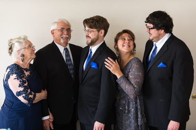 Best Western Inn Madison Wedding Family Portrait