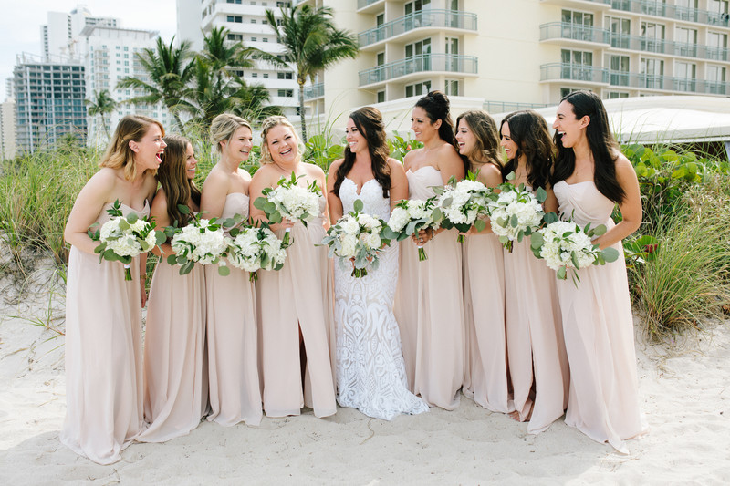 Fun bridesmaid photo, Hilton Singer Island