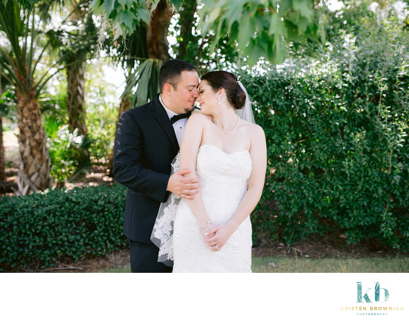 Portrait of bride & groom, Willoughby Golf Club