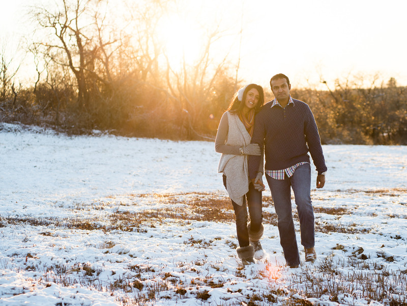 Maine Winter Engagement Session
