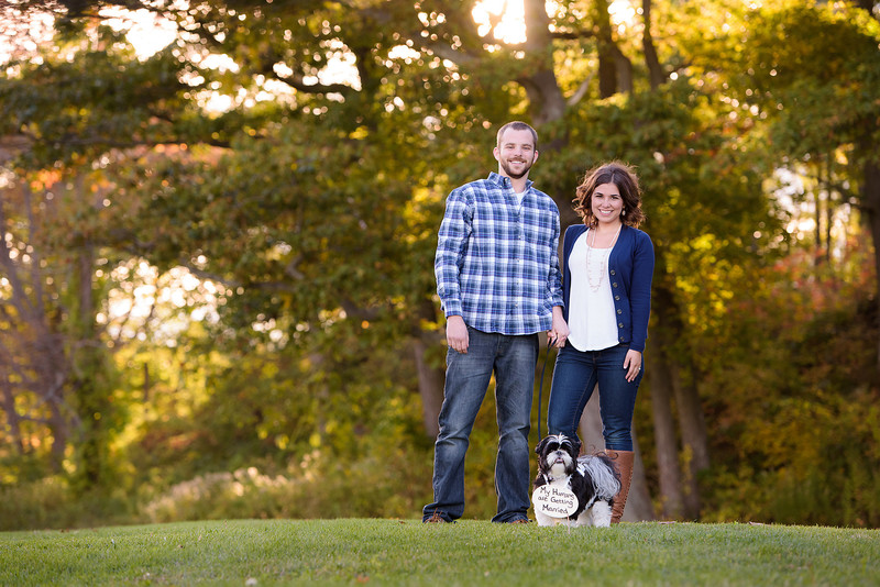 Fort Williams Engagement Session with the Dog