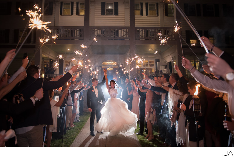 The Sparkler Send Off - Maine Wedding Photographer | Coastal ...