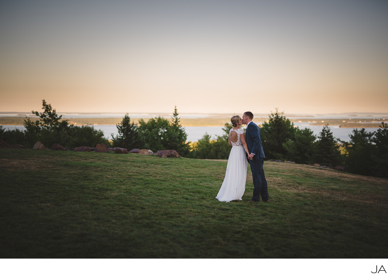 Amazing Maine wedding photography at Point Lookout