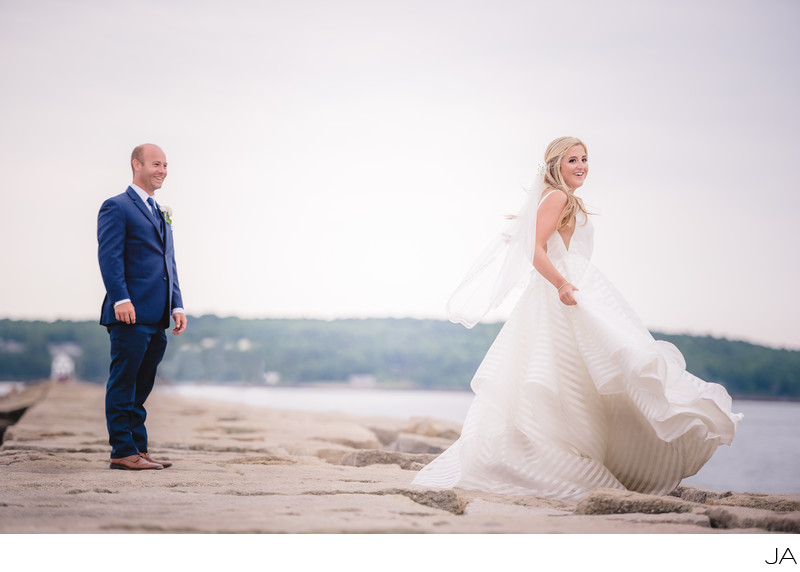 Samoset wedding on the breakwater