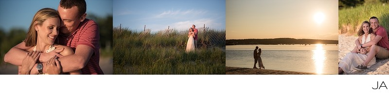 Ferry Beach Engagement Photography