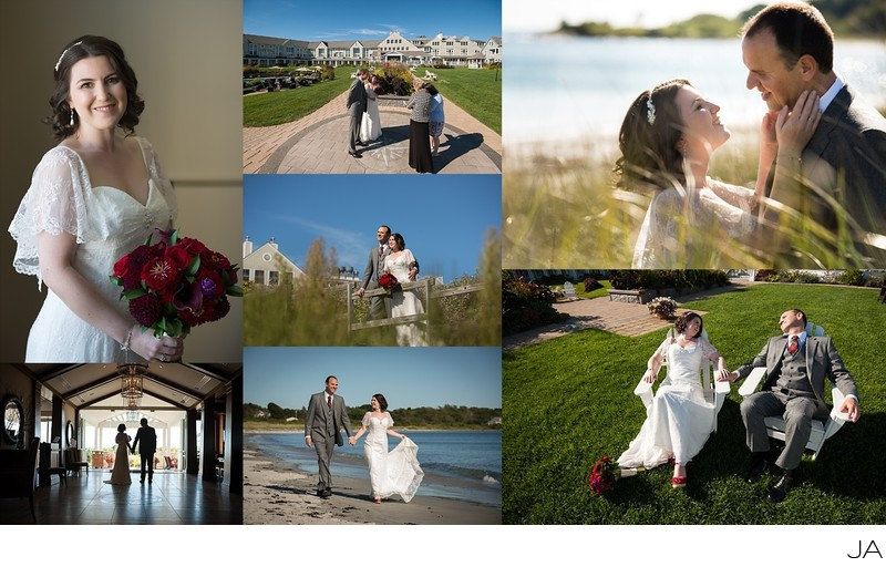 Inn by the Sea elopement ceremony and photo session