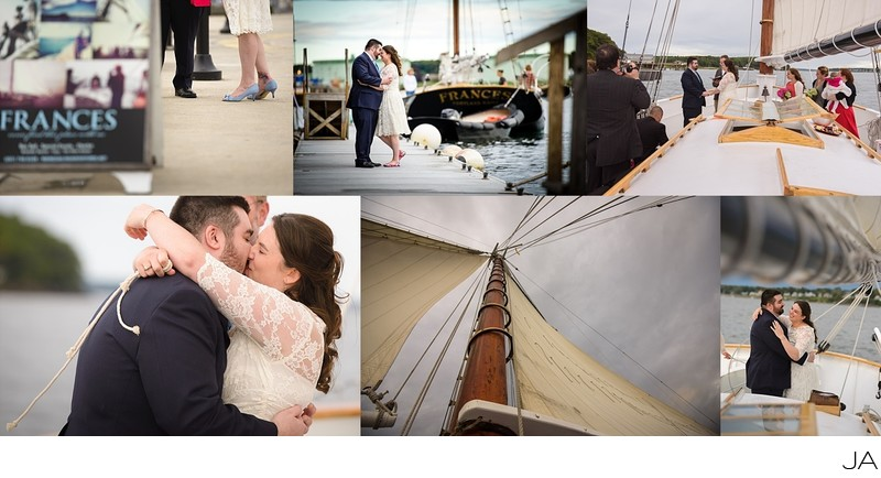 Casco Bay Elopement on the Frances