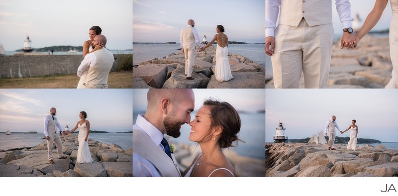 Spring Point Lighthouse Wedding and Elopement