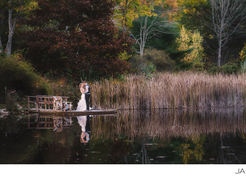 Maine Lake weddings in autumn