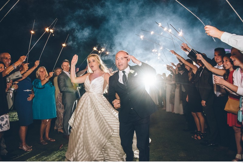 The Sparkler Send Off at the Samoset Resort