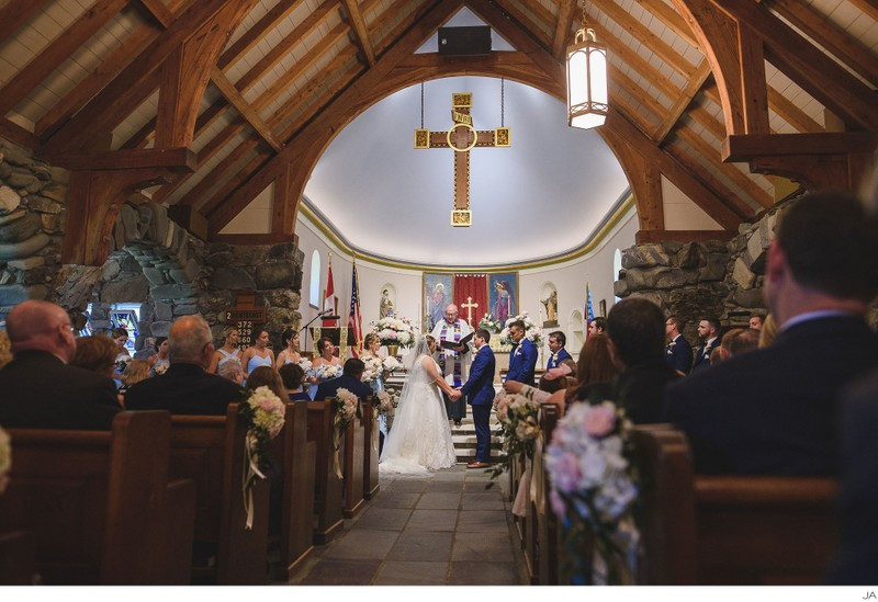 Ceremony at St. Ann's by the Sea Church