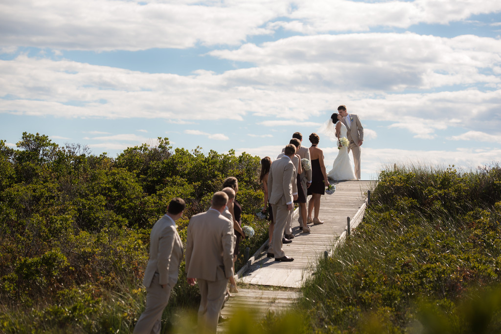 Sprague Farm Wedding Kiss on the Beach