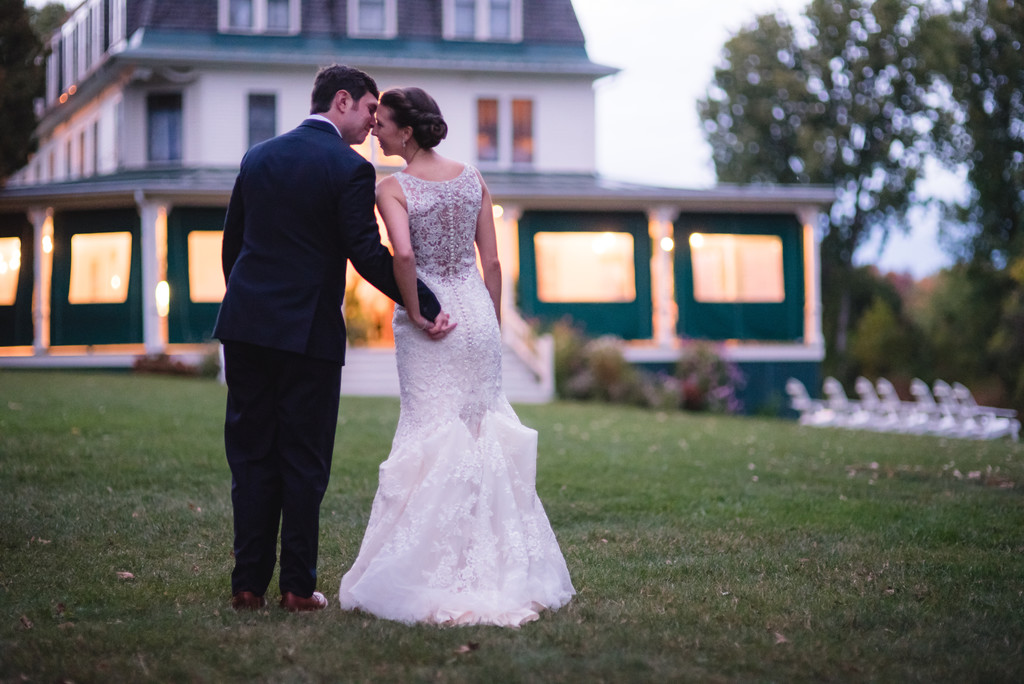 Couple take a moment at the Grand Isle Lake House, VT