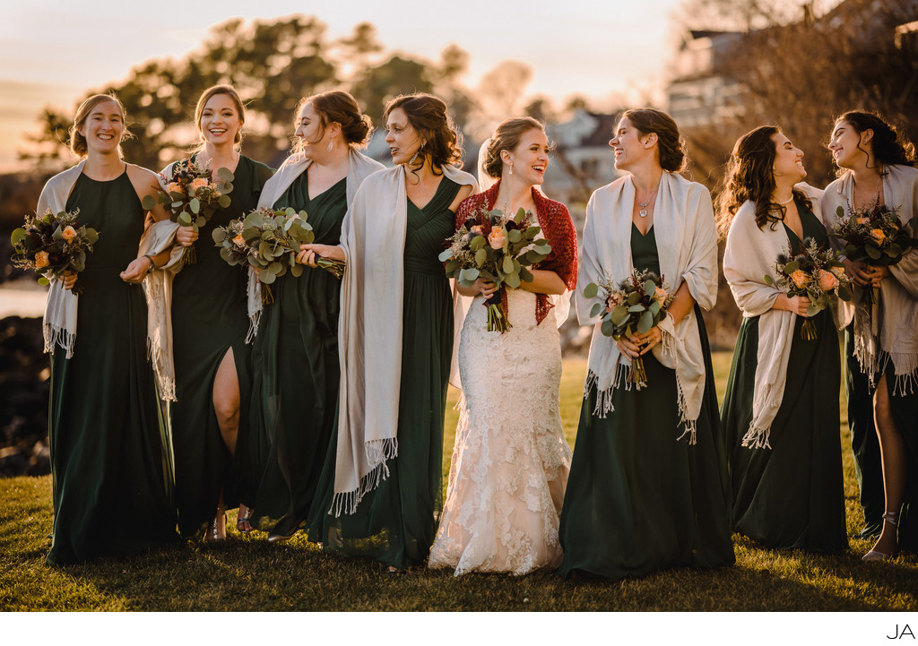 With the girls bridal party photography