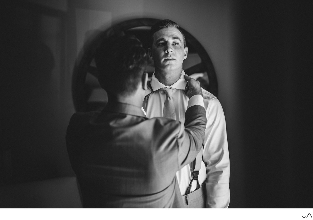Groom prep - Maine wedding photography