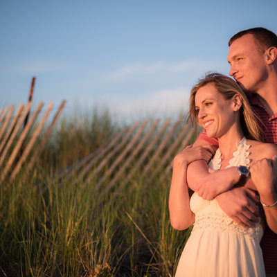 Stephanie and Eddie - Engagement Session at Ferry Beach
