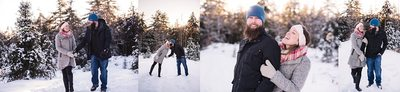 Christmas Tree Farm photo session in Maine