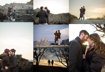 Fort Williams marriage proposal and photo session