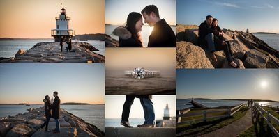 Spring Point Lighthouse proposal photo session