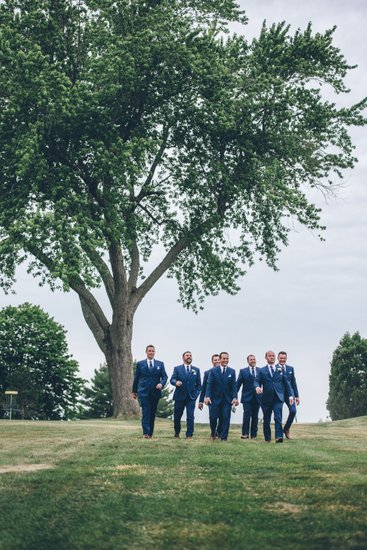 Groomsmen arrival to the ceremony