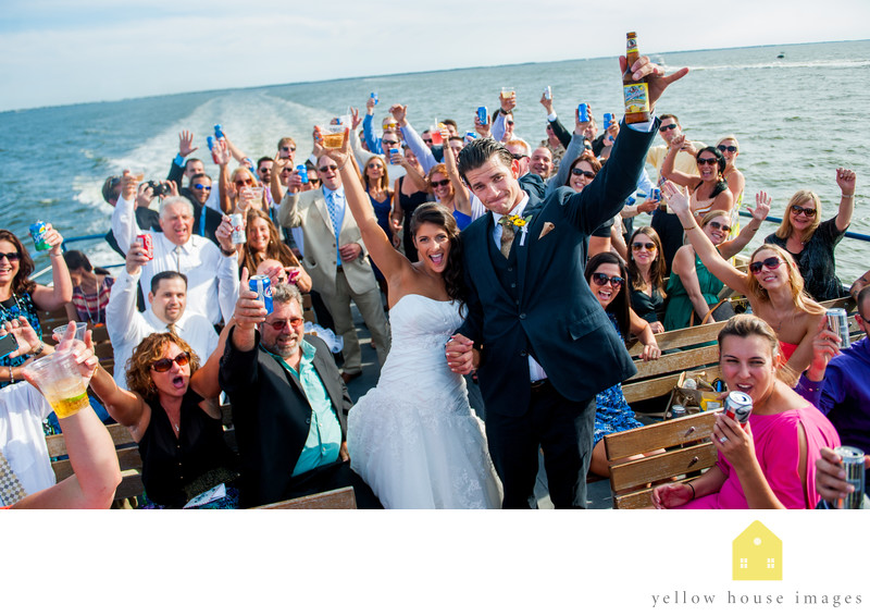 Fire Island Ferry wedding