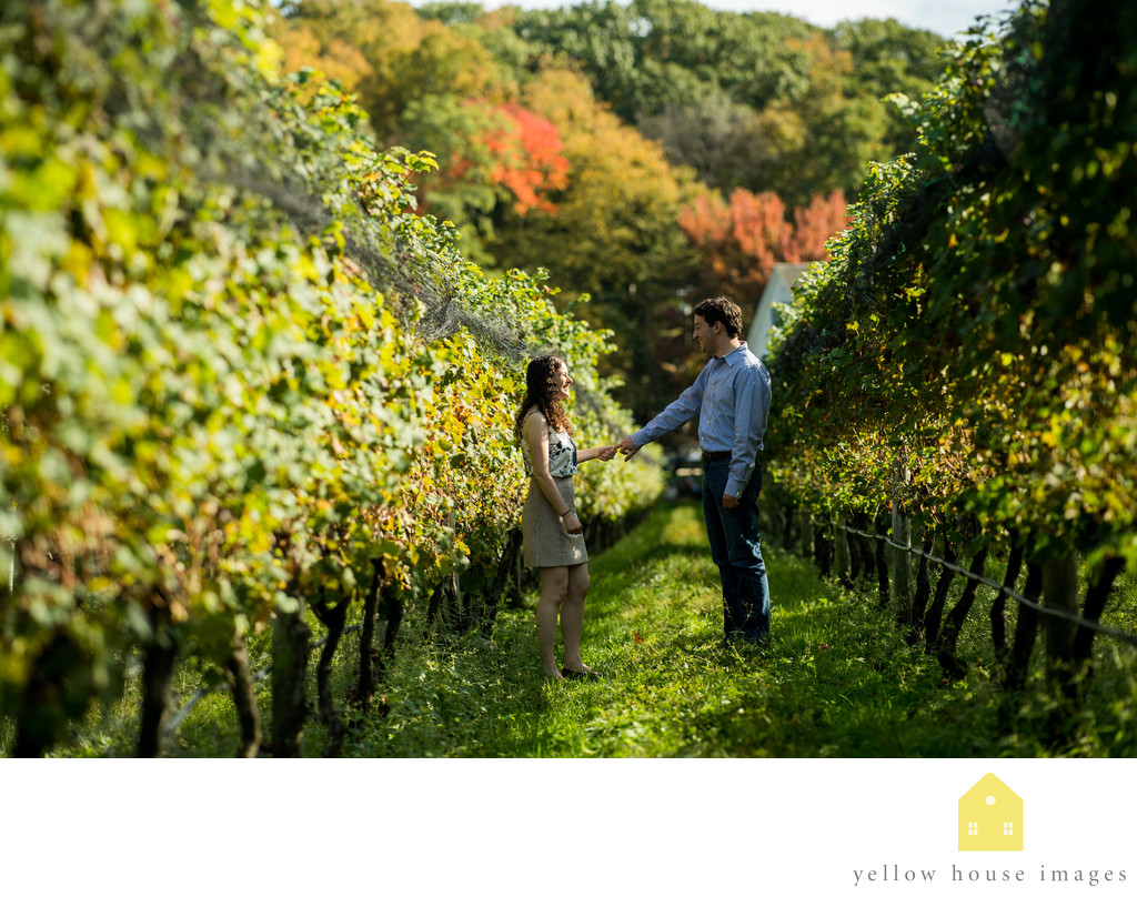 Best Vineyard on Long Island for Engagement Photos