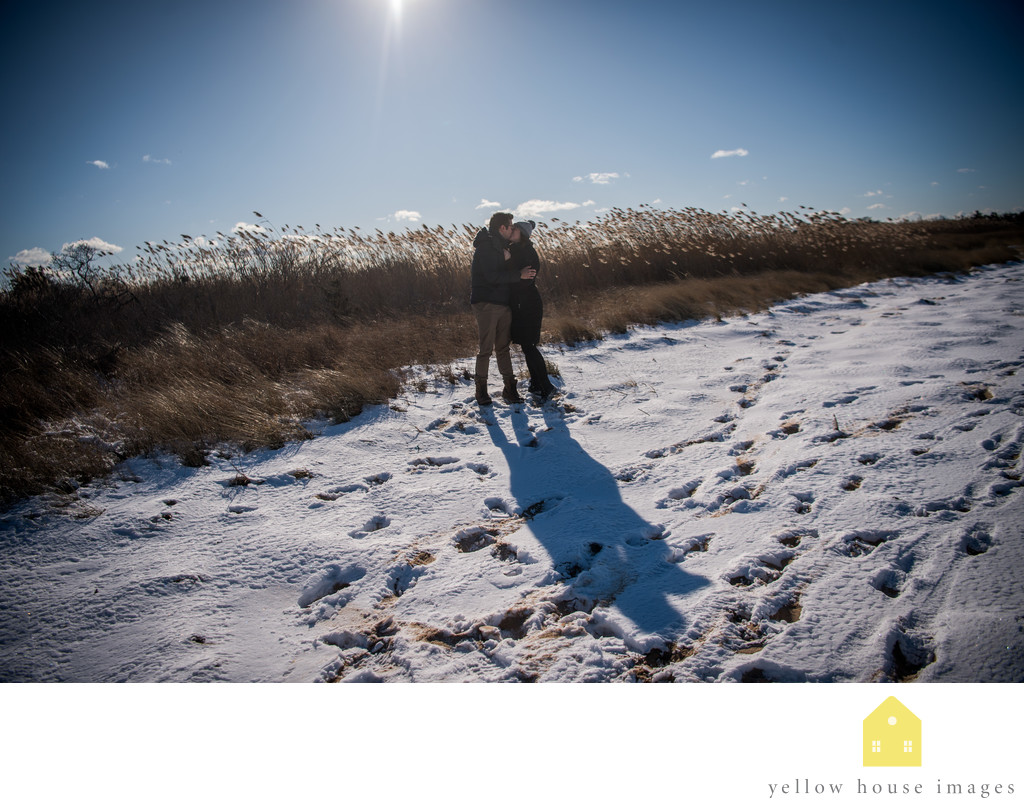 Long Island Winter Engagement Photography