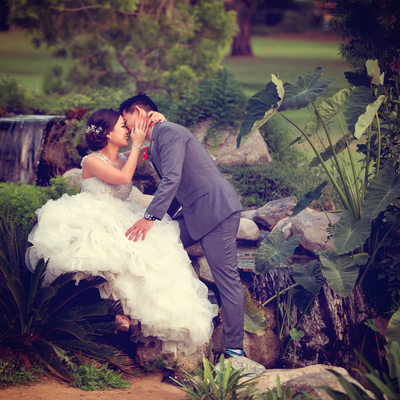 Wedding Portrait Session at Diamond Bar Golf Course