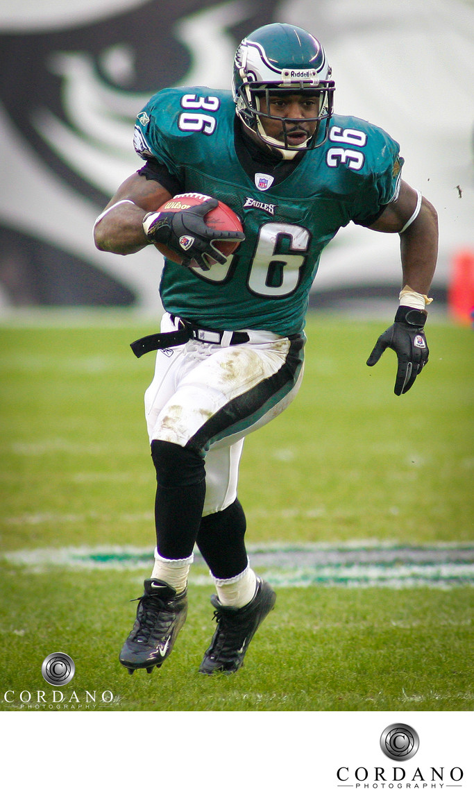 NFL Philadelphia Eagles Action Brian Westbrook Cordano Photography