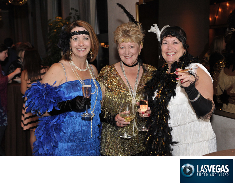corporate event photographer ladies at costume party