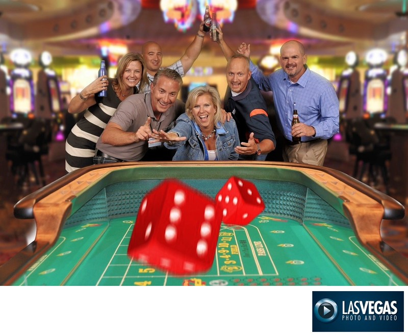 corporate event photographer green screen craps game