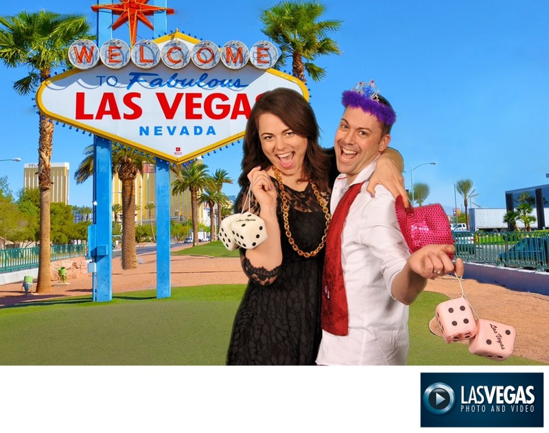corporate event photography Las Vegas Sign green screen