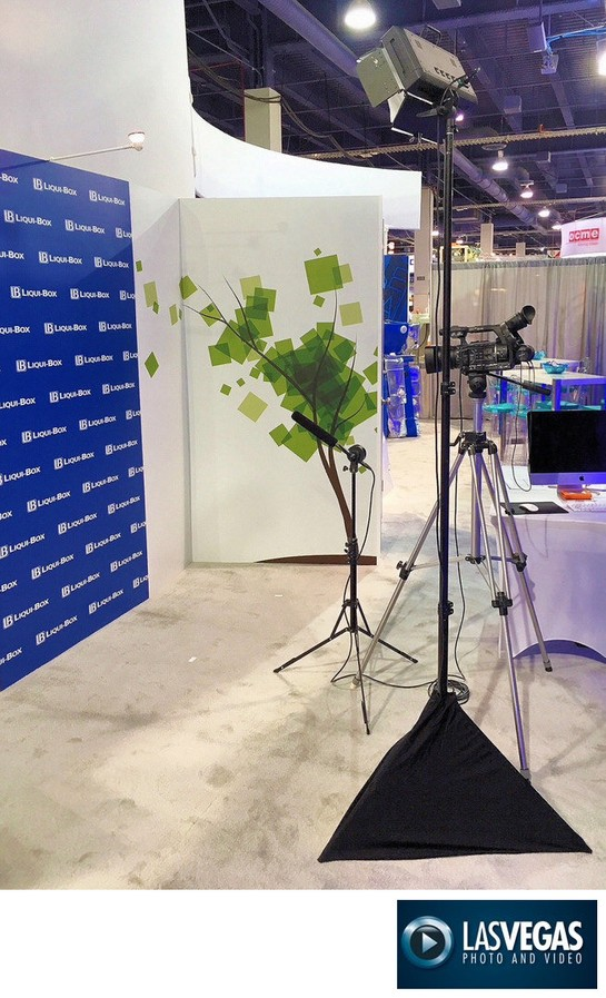corporate event videographer booth video interview set-up